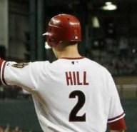 Arizona Diamondbacks second baseman Aaron Hill
